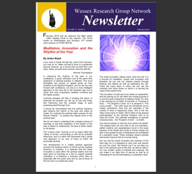 Newsletter with events listing and articles on the Rhythm of the year and Imbolc