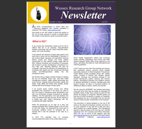 Newsletter with events listing and  articles entitled What is 5G? and Edgar Cayce's Atlantis
